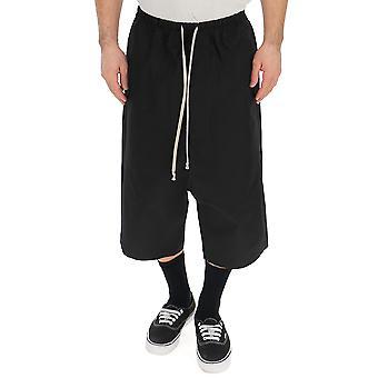 Rick Owens Ru19s2382te09 Men's Black Cotton Shorts