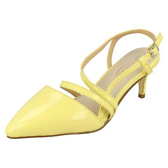 Dames plek op midden hak Patent schoenen F90058