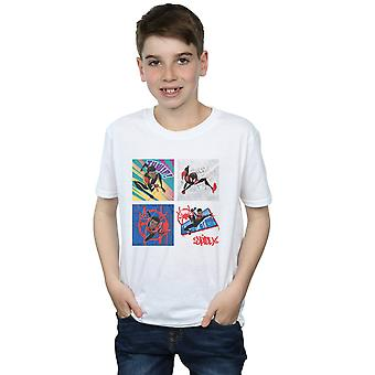 Marvel Boys Spider-Man Içine Spider-Verse Dört Kareler T-Shirt