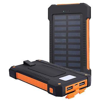 8000mAh Eko Güneş enerjisi banka 2 USB Turbo LED ışık USB Akashi