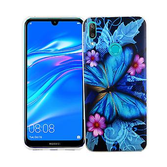 Huawei Y7 2019 King Shop Phone Case Protection Case Cover Bumper Butterfly Blue