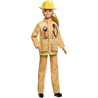 Barbie GFX29 Career 60th Doll, I Can Be a Firefighter, Blonde