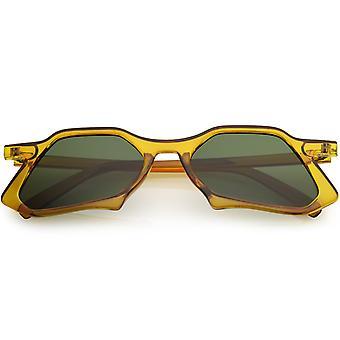 Nieuwe mode unieke geometrische ondersteboven retro zonnebrillen