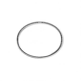 Bracelet Jonc Silver 60mm Wire 6x3mm Opening On The Side