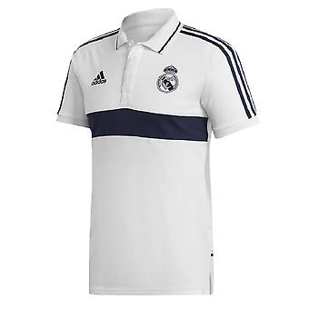 2019-2020 Real Madrid Adidas Polo Shirt (White-Indigo)