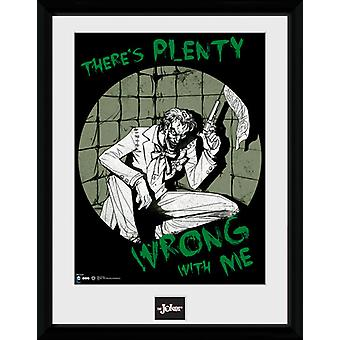 Komische Joker Batman viel falsch gerahmte Collector Print 40x30cm