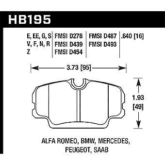 Hawk Performance HB195G.640 DTC-60