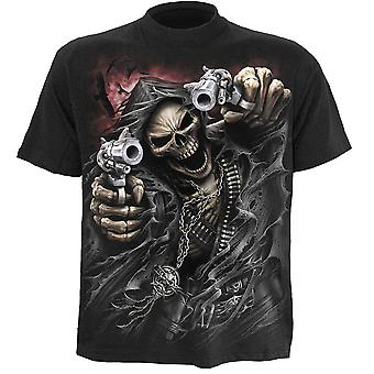 Spiraal-Assassin-mens korte mouw t-shirt zwart