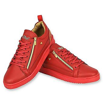 Rode Sneakers - Cesar Red Gold - CMP97