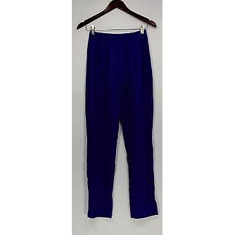 Susan Graver Women's Pants Essentials Lustra Knit Purple A285514