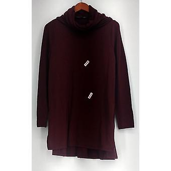 Lisa Rinna coleção Top capuz pescoço longo túnica Borgonha A297909