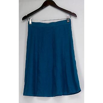 Liz Claiborne York Petite Skirt Knee Length Blue A264115