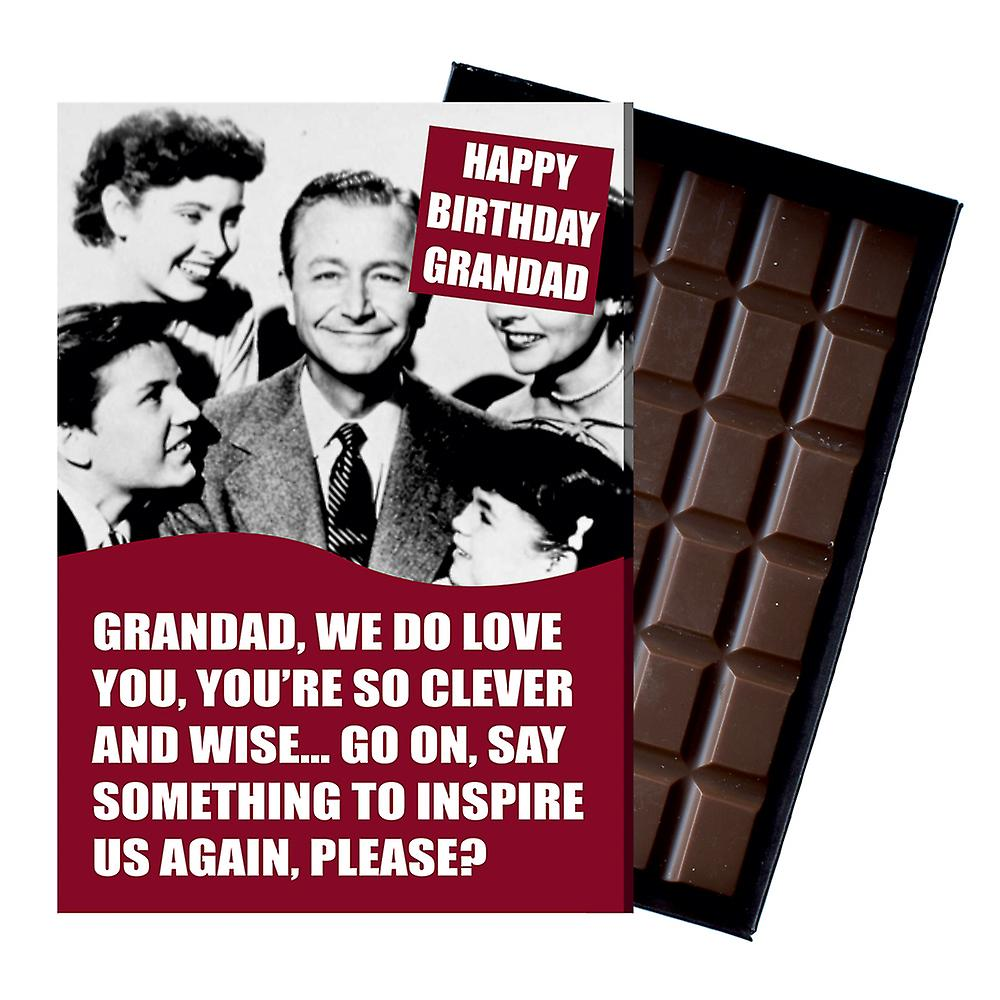 Funny Birthday Gifts For Grandad boxed Chocolate Greeting Card Present for Grandpa Grampy CDL207
