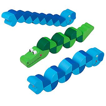 EduPlay Wooden Snake Puzzles set of 3