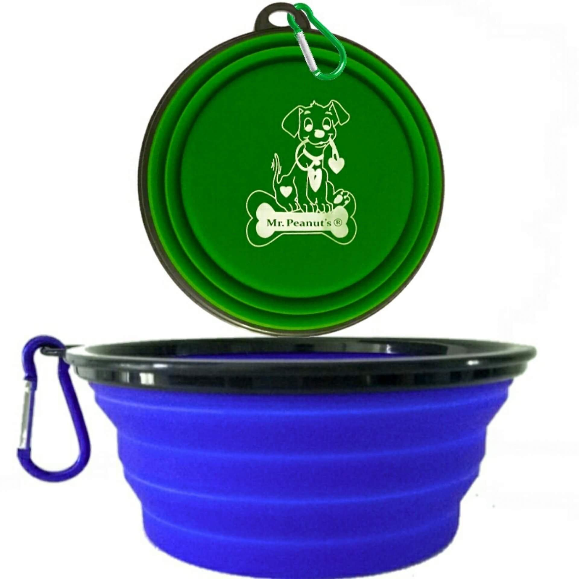 2 pak xl 34oz collapsible travel bowls for larger pets