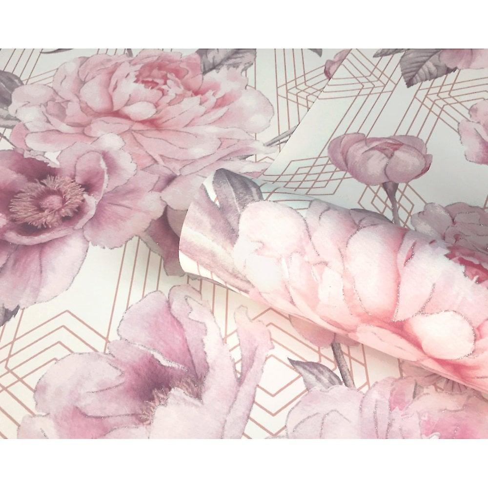 Belgravia Decor Geometric Floral Glitter Smooth Stripe Pastel