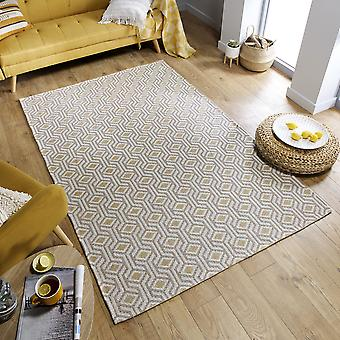 Cotone Bombax Rugs In Ochre Natural