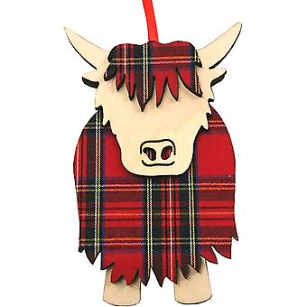 Hamish Highland Cow Royal Stewart par Art Cuts