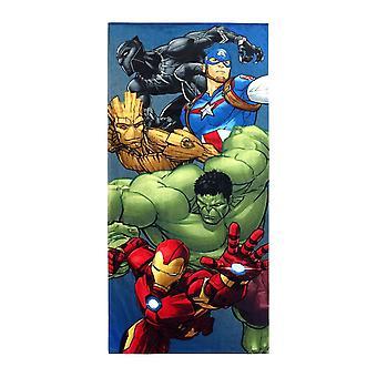Avengers Group Shot Beach Towel