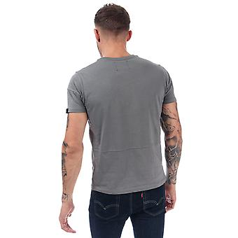Mens Duck And Cover Crosdale Reflective Print T-Shirt In Grey- Short Sleeve-