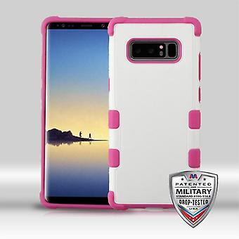 MYBAT naturlig creme hvid/hot pink TUFF fusionere hybrid Protector Cover til Galaxy Note 8