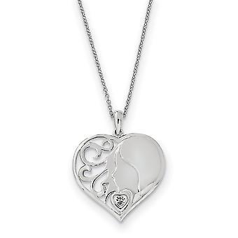 925 Sterling Silver polerad gåva Boxed Spring Ring Rhodium pläterad CZ Cubic Zirconia Simulerad Diamond Min dotter Min Lo