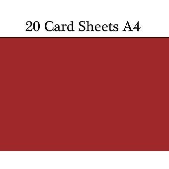 20 Bordeaux Red Wine A4 Card Sheets for Crafts | Coloured Card for Crafts