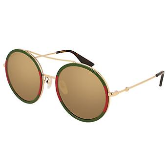 GUCCI GG0061S Green/Red/Golden Gold Mirror