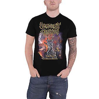 Malevolent Creation T Shirt The Ten Commandments Band Logo Official Mens Black
