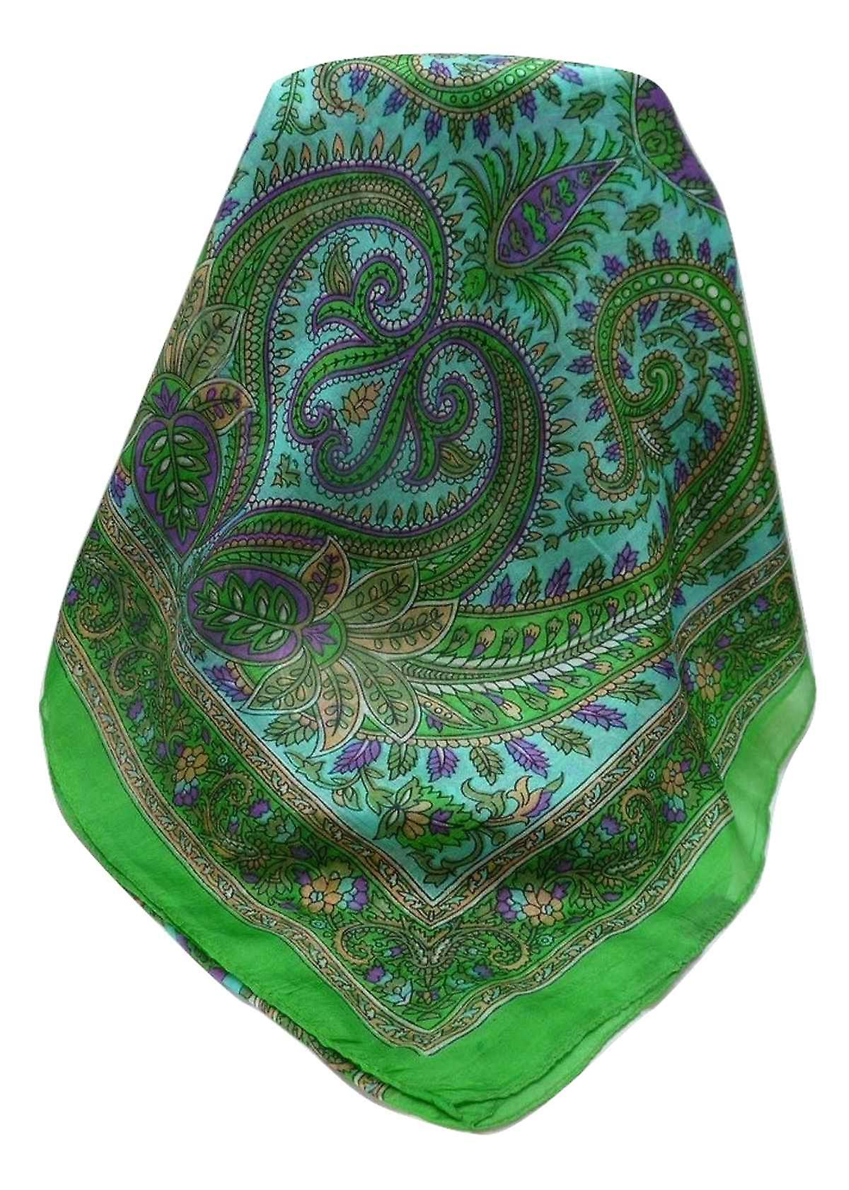 Mulberry Silk Traditional Long Scarf Dasari Emerald by Pashmina & Silk