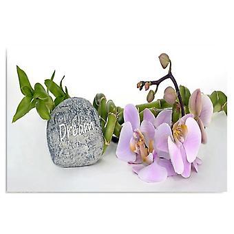 Deco panel, 7 orkidéer