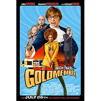 أوستن القوى Goldmember (مزدوجة من جانب) ملصق السينما الأصلي