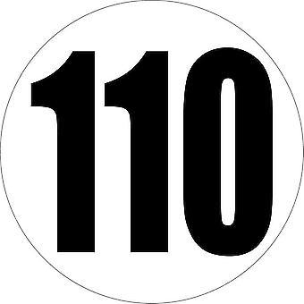 Autocollant Sticker Voiture Camion Limitation Limite Vitesse 110 Km/H Panneau