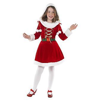 Holky Detské Little Miss Santa vianočné maškarné kostým