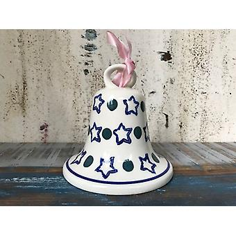 Glocke groß, Antik, alte Bunzlauer Keramik mit Glasurrissen eventuell