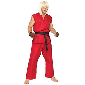 Ken Kenneth Masters Japanese Capcom's Street Fighter Video Game Mens Costume