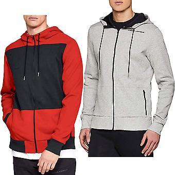 Under Armour mens achtervolging micro thread volledige zip lange mouw Sweatshirt hoodie top