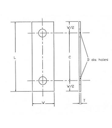 Backing Plate 89 Mm Centers (50 Mm Nb Extended Or Light U-bolt) Stainless Steel