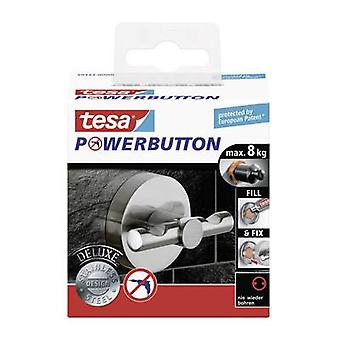 Tesa® Powerbutton Deluxe Hook Round, Stainless Steel