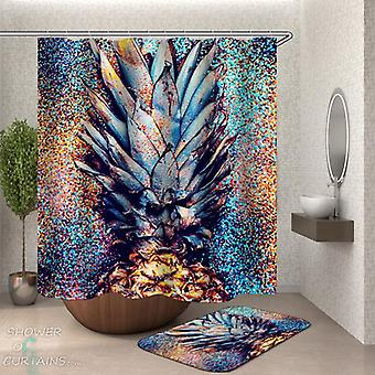 Shower Curtains with Pineapple Crown