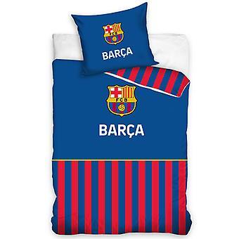 FC Barcelona Barça Stripe Single Dekbed Cover Set - Europese maat