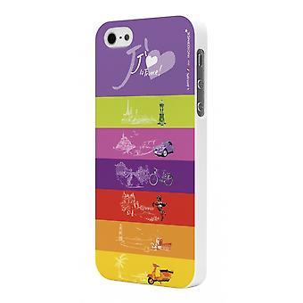 Coque Rubber White Incidence Modèle Love France Pour Apple Iphone 5