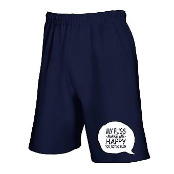 Navy navy blue jumpsuit shorts gen0732 my pugs makes me happy