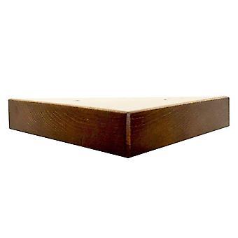 Cherry wood triangle Furniture leg 3 cm
