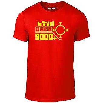 Uomini's oltre 9000 t-shirt