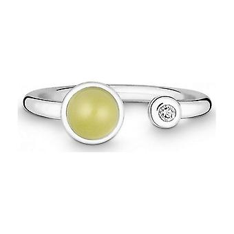 QUINN - Ring - Silver - Diamond - Lemonquartz - Wess. (H) - Width 56 - 21191648