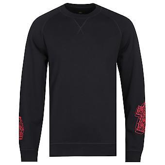 エドウィン X テイデ クラウン & クロス ブラック スウェットシャツ