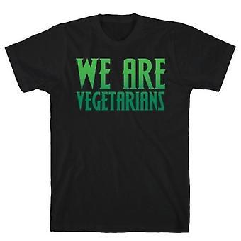 Nous sommes végétariens parodiet t-shirt à imprimé blanc