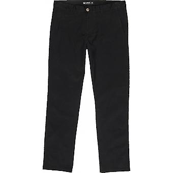 Element Howland Chino Trousers in Flint Black