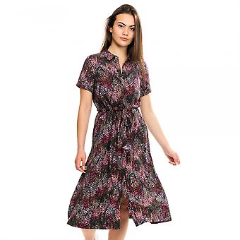 Joules joules winde print Womens knop front shirt jurk A/W 19